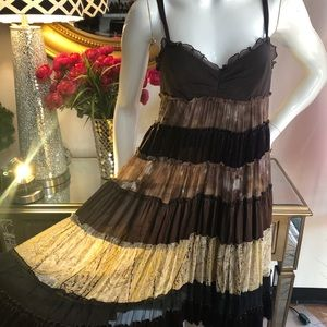 BCBGMaxAzria Brown Silk Dress